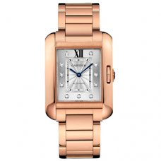 Cartier Tank Anglaise diamond watch for men WJTA0005 18K pink gold