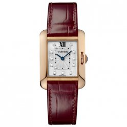 Cartier Tank Anglaise women WJTA0007 18K pink gold leather strap