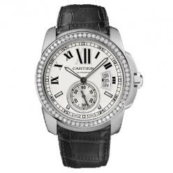Calibre de Cartier automatic diamond watch WF100003 steel