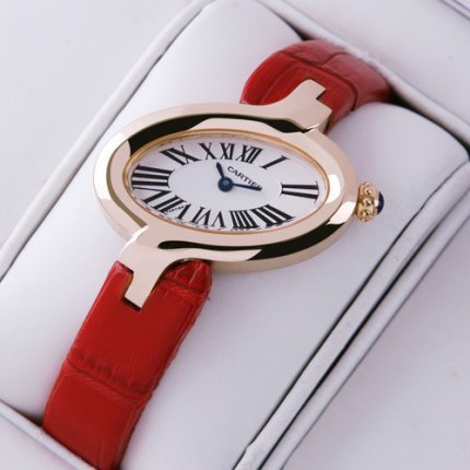 Cartier Delices replica watch for women 18K pink gold