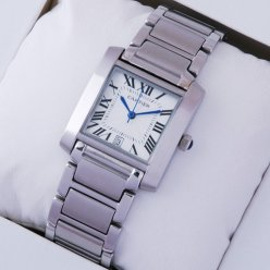 Cartier Tank Francaise W51002Q3 steel watch for men