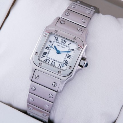 Cartier Santos Galbee stainless steel watch replica for women