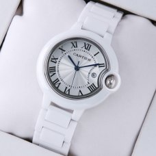 Ballon Bleu de Cartier white ceramic watch replica