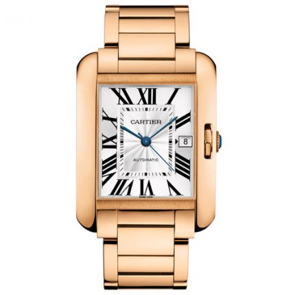 Cartier Tank Anglaise replica watches for men W5310002 18K pink gold