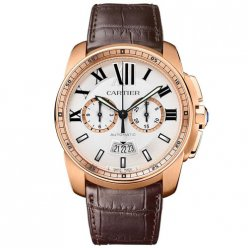 Calibre de Cartier Chronograph watch imitation W7100044 pink gold
