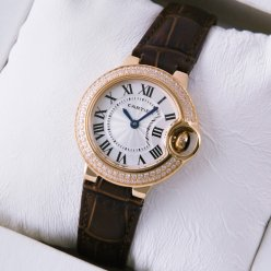 Ballon Bleu de Cartier small quartz watch diamond pink gold