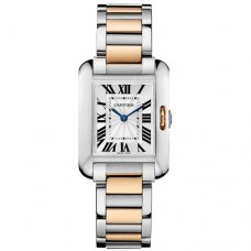 Cartier Tank Anglaise watch for women W5310036 pink gold and steel