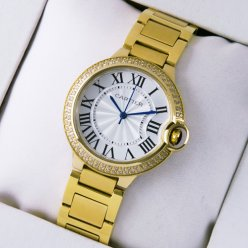 Ballon Bleu de Cartier yellow gold watch with diamonds