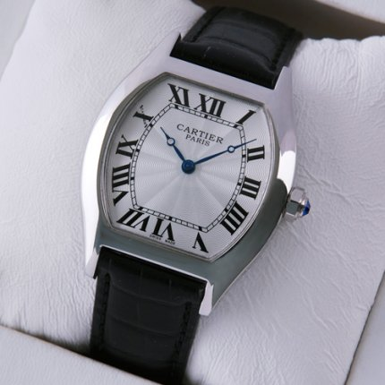Cartier Tortue medium replica watch stainless steel