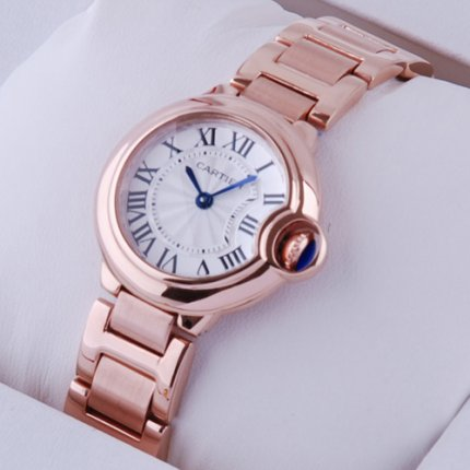 Ballon Bleu de Cartier small quartz watch 18kt pink gold
