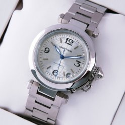 Cartier Pasha C imitation midsize watches silver dial