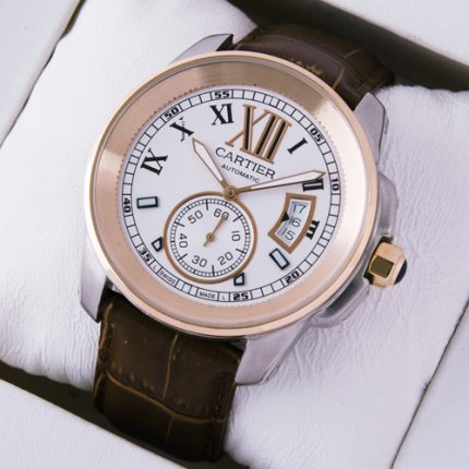 Calibre de Cartier W7100011 two-tone 18K pink gold and steel