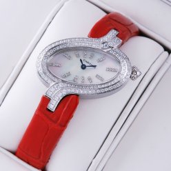 Cartier Delices watch diamond womens white mother of pearl dial