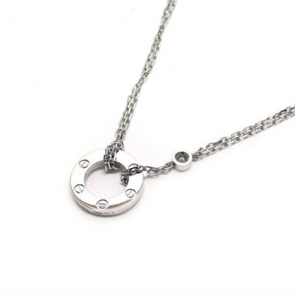 Cartier Love necklace white gold diamonds B7219400