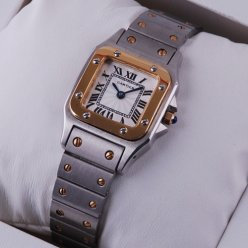 Cartier Santos Galbee two-tone 18K yellow gold replica watch for women