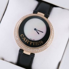 Cartier Captive replica 18k pink gold diamond watch for women