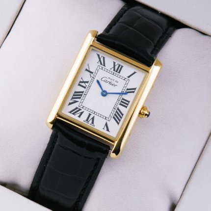 Must de Cartier Vermeil swiss watch 18K yellow gold