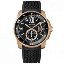 Calibre de Cartier Diver replica watch W7100052 pink gold