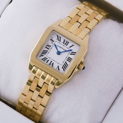 Cartier Santos Demoiselle yellow gold watch for women