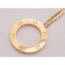 Cartier Love necklace pink gold B7014400