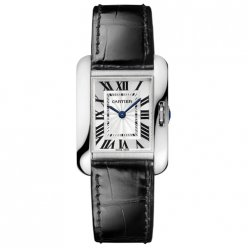Cartier Tank Anglaise watch for women W5310029 18K white gold