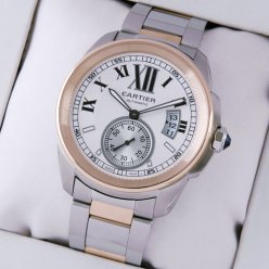 Calibre de Cartier automatic watch replica W7100036 pink gold and steel