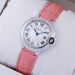 Ballon Bleu de Cartier small swiss quartz watch with diamond