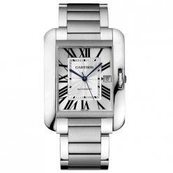 Cartier Tank Anglaise replica watch for men W5310008 stainless steel