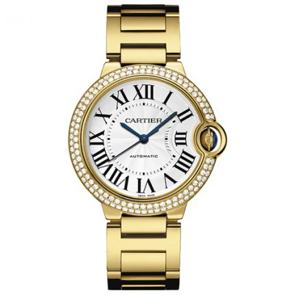 Ballon Bleu de Cartier automatic watch 18kt yellow gold