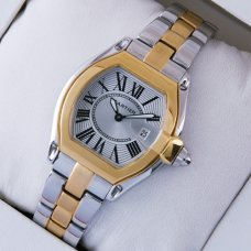 Cartier Roadster yellow gold replica watch for women