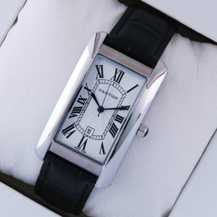 Cartier Tank Americaine mens replica watch W2603256