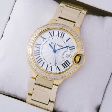 Ballon Bleu de Cartier quartz watch diamonds 18kt yellow gold
