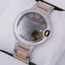 Ballon Bleu de Cartier W6920032 watch replica 18K pink gold and steel
