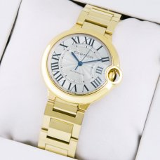 Ballon Bleu de Cartier automatic watch replica 18kt yellow gold