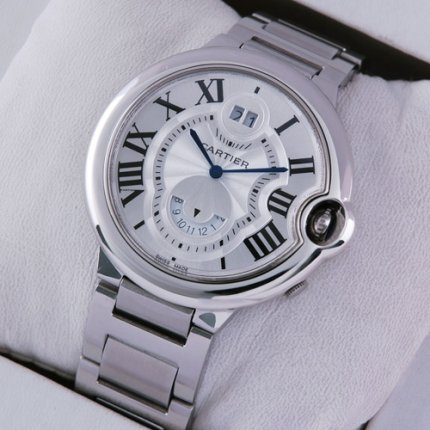 Ballon Bleu de Cartier W6920011 GMT large watch stainless steel