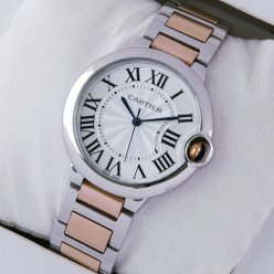 Ballon Bleu de Cartier quartz watch two-tone 18kt pink gold and steel