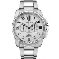 Calibre de Cartier Chronograph imitation watch W7100045