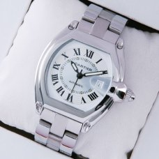 Cartier Roadster automatic watch replica stainless steel ivory dial for men