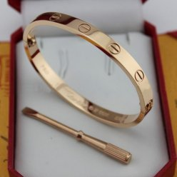 Cartier Love bracelet replica pink gold B6035616