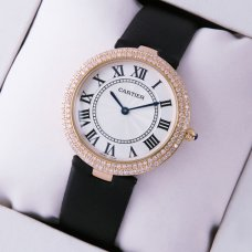 Cartier Ronde Solo diamond watch replica for women pink gold
