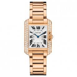 Cartier Tank Anglaise diamond watch for women WT100002 18K pink gold