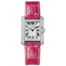 Cartier Tank Anglaise diamond watch WT100015 18K white gold