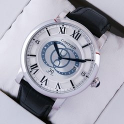 Rotonde de Cartier silver dial imitation watch for men