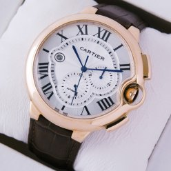 Ballon Bleu de Cartier chronograph watch W6920009 18K pink gold