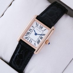 Cartier Tank Solo swiss watch replica 18K pink gold