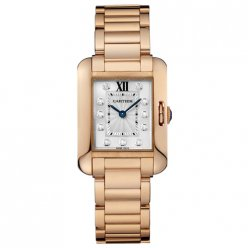 Cartier Tank Anglaise watch for women WJTA0004 18K pink gold