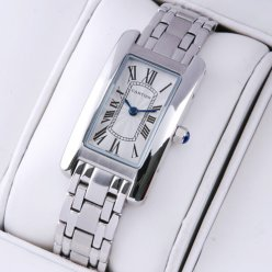 Cartier Tank Americaine watch replica 18K white gold W26019L1