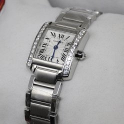 Cartier Tank Francaise 18K white gold watch for women
