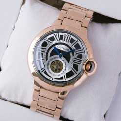Ballon Bleu de Cartier Flying Tourbillon extra large watch replica 18K pink gold