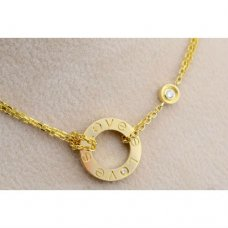 Cartier Love necklace yellow gold B7219500 diamonds